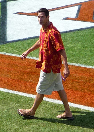 Paul McDonald (American football) - McDonald walks the sidelines before a game between USC and UVA, 2008.