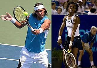 2008 Wimbledon Championships - The two singles champions, Rafael Nadal and Venus Williams.