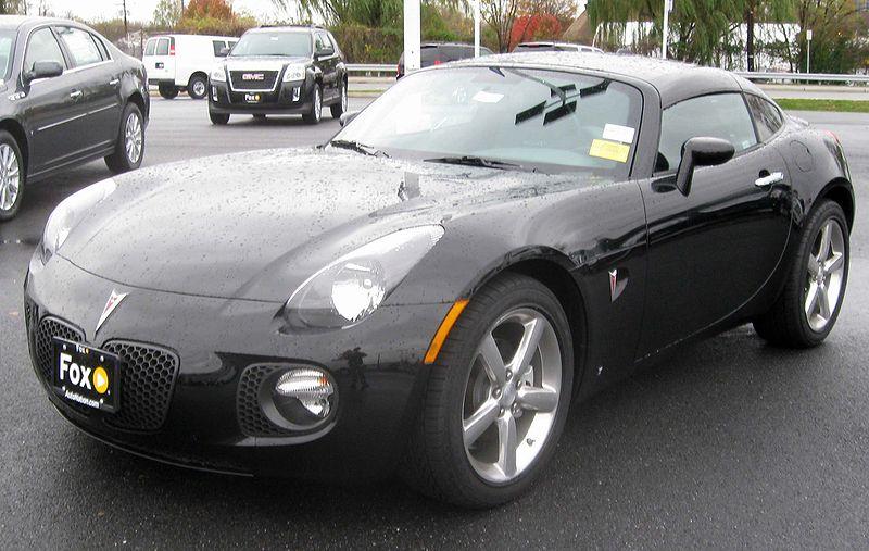 File:2009 Pontiac Solstice GXP coupe front -- 11-13-2009.jpg
