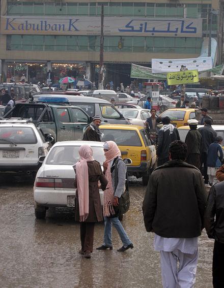 009 winter street scene in  Kabul