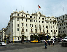 The Gran Hotel Bolivar Faces Plaza San Martín