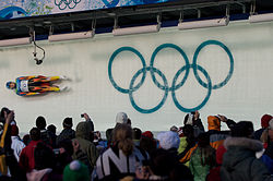 2010 Winter Olympics Julia Clukey in luge.jpg