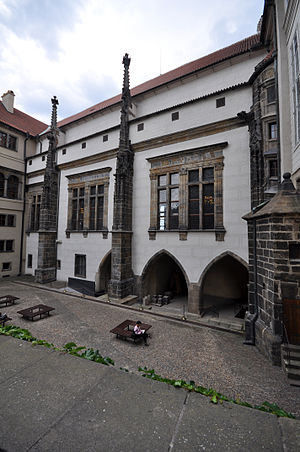Old Royal Palace (Prague) - Exterior of Vladislav Hall of the old royal palace, Prague