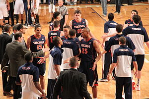 2013–14 Virginia Cavaliers men's basketball team - The 2013–14 team at Hank McCamish Pavilion.