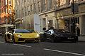 2013 & 2012 Lamborghini Aventador (8847148625).jpg