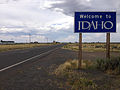 2014-08-19 14 36 43 Welcome to Idaho sign at the south end of Idaho State Highway 51.JPG