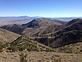 2014-10-03 14 19 37 View southeast into a canyon in the Diamond Mountains while heading south from Diamond Peak, Nevada.JPG