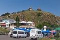 2014 Prowincja Gegharkunik, Sewanawank, Parking pod klasztorem.jpg