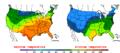 2016-04-26 Color Max-min Temperature Map NOAA.png