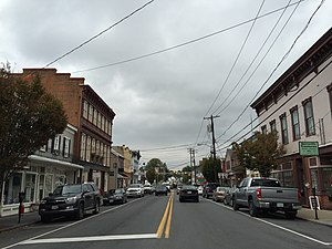Berryville, Virginia - View down Main Street (SR 7 Bus) in Berryville