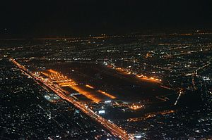 Don Mueang International Airport - Aerial photo of DMK at Night