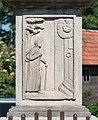 2017 Figura św. Jana Nepomucena w Żelaźnie 2.jpg