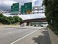 2019-05-27 13 20 14 View south along the inner loop of the Capital Beltway (Interstate 95 and Interstate 495) at Exit 19A (U.S. Route 50 East, Annapolis) in Lanham, Prince George's County, Maryland.jpg