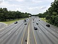 2019-07-11 12 37 06 View west along Interstate 495 (Capital Beltway) from the overpass for Maryland State Route 193 (University Boulevard) along the edge of Silver Spring and Four Corners in Montgomery County, Maryland.jpg