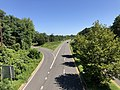 2020-08-18 11 24 09 View east along the westbound lanes of Maryland State Route 704 (Martin Luther King Junior Highway) from the overpass for Maryland State Route 202 (Landover Road) in Landover, Prince George's County, Maryland.jpg