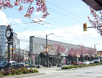 Mount Pleasant, Vancouver - Intersection of Main Street and Kingsway