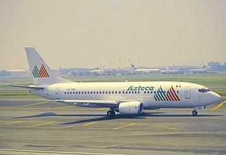 Líneas Aéreas Azteca - at Mexico City Airport.