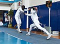 2nd Leonidas Pirgos Fencing Tournament. Lunge by the fencer on the right.jpg