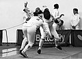 2nd Leonidas Pirgos Fencing Tournament. Nikoletta Chatzisarantou and Anna Panagiotakopoulou.jpg