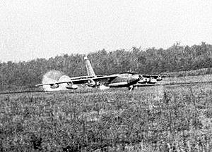 384th Air Expeditionary Wing - 384th Bomb Wing B-47 landing at Little Rock AFB, Arkansas