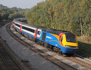 Midland Main Line - East Midlands Trains HST at Dore.