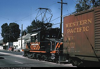 Sacramento Northern Railway - Image: 654 on Bridge st Flickr drewj 1946