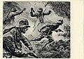 """6 Künstler-Postkarten """"Frontbilder 1918"""" nach Original-Litographien von Prof. Elk Eber München Köhler Druck Nazi Propaganda Postcard WW1 German soldiers fight trench warfare Stahlhelm heroes drawing No known copyright 05.jpg"""