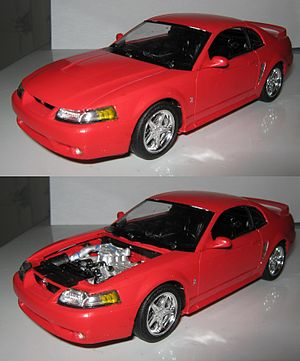 Monogram (company) - A built Monogram 1999 Ford Mustang Cobra in 1:25 scale.