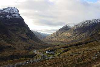 A82 road - The A82 passing through Glen Coe
