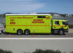 Hazardous materials apparatus - Hazmat response unit with the ACT Fire & Rescue Service in Canberra.