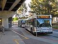 AC Transit buses at El Cerrito Plaza station, July 2018.JPG