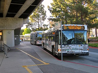 El Cerrito Plaza station - AC Transit buses at the station