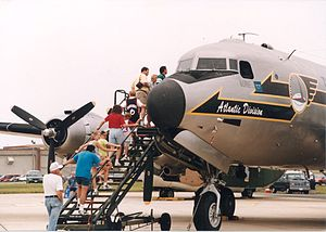 Dover Air Force Base - C-54 with visitors at the AMC museum