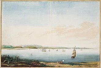Ilha de Itamaracá - Painting by Johannes Vingboons of Itamaracá, 17th century