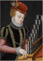 AN ELEGANTLY-DRESSED LADY AT AN ORGAN, AS SAINT CECILIA.png