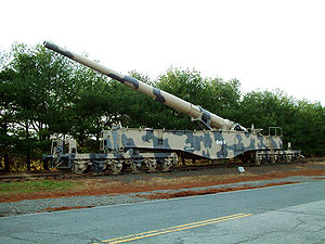 "United States Army Ordnance Training and Heritage Center - German World War II 280 mm Krupp K5 railway gun, nicknamed ""Leopold"" and ""Anzio Annie"""