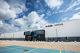 Front entrance to the ASB Arena in Tauranga