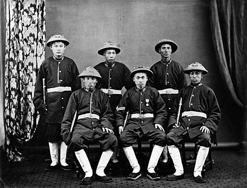 A Group of Hong Kong Native Police