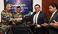 A Memorandum of Understanding (MoU) was signed between the Indian Army and HDFC Bank on the Defence Salary Package in the presence of the Adjutant General of Indian Army, Lt. Gen. Rakesh Sharma, in New Delhi.jpg