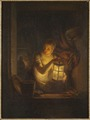 A Woman with A Lantern (Alexander Lauréus) - Nationalmuseum - 18221.tif