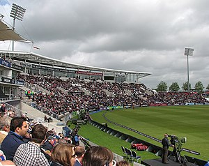 Rose Bowl (cricket ground) - View of the pavilion and the Shane Warne Stand during an ODI between England and the West Indies in June 2012.