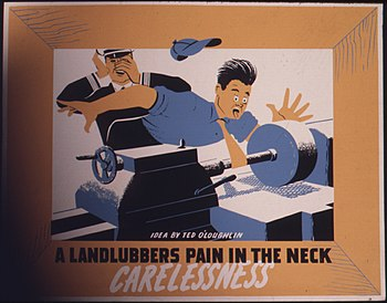 A landlubbers pain in the neck. Carelessness -...