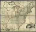 A map of the United States and British provinces of Upper and Lower Canada with other parts adjacent - by Shelton and Kensett; A. Doolittle and T. Kensett sculp.; projected by Thomas Kensett. NYPL433920.tiff