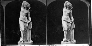 A statue (stereograph)