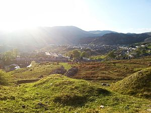 Blaenau Ffestiniog - Looking down towards Blaenau Ffestiniog town during the summer months.