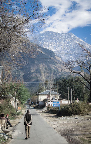 Sidhbari - A view of the Dhauladhars from Rakkar, Upper Sidhbari