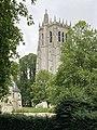 Abbaye Notre-Dame du Bec, tour Saint-Nicolas derrière les arbres.jpg