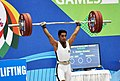 Abdullah Ghafoor (Pakistan) in action and won the silver medal in 56 kg Men's weightlifting, at 12th South Asian Games-2016, in Dispur, Guwahati on February 06, 2016.jpg