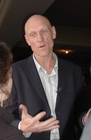 Environmentalist - Peter Garrett campaigning for the Australian federal election, 2004.