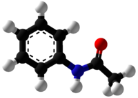 Acetanilide Ball and Stick.png
